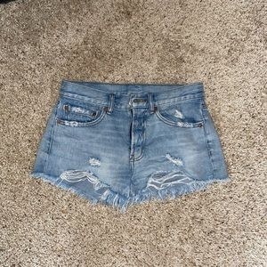 BDG Urban Outfitters distressed jean shorts